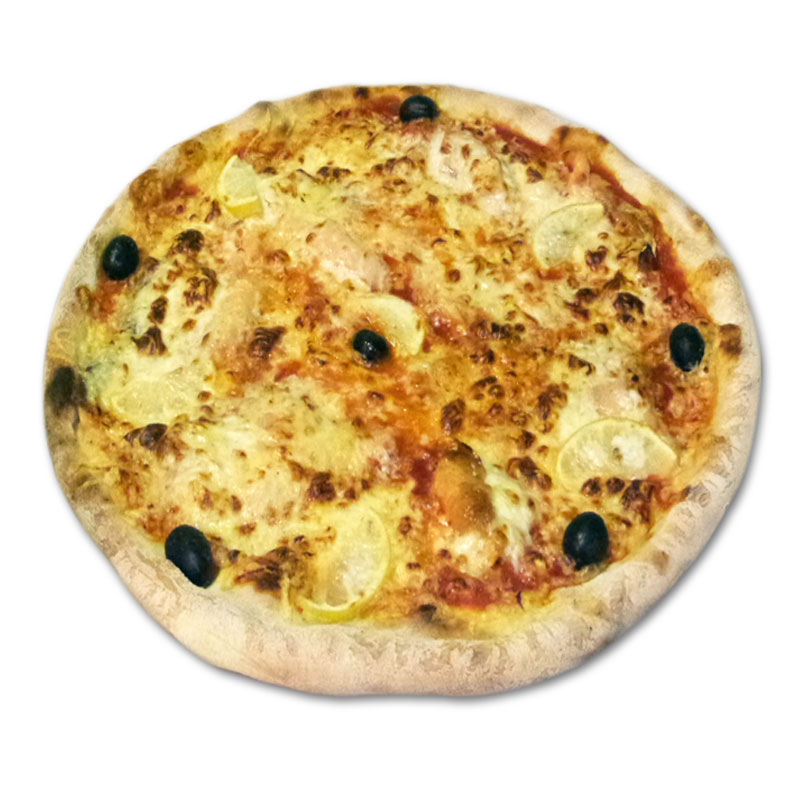 Pizza norvégienne à emporter